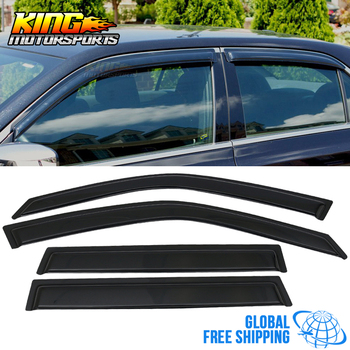 Fit For 09-13 Subaru Forester Acrylic Window Visors 4Pc Set Global Free Shipping