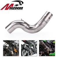51mm Motorcycle Modified Exhaust Middle Pipe Connection Link Pipe Slip On FOR KAWASAKI ZX 6R ZX6R 636 2004 2005 2006 2007 2008