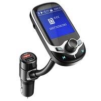 1.8 LCD display Car MP3 player FM transmitter Bluetooth Handsfree Car Kit support USB TF