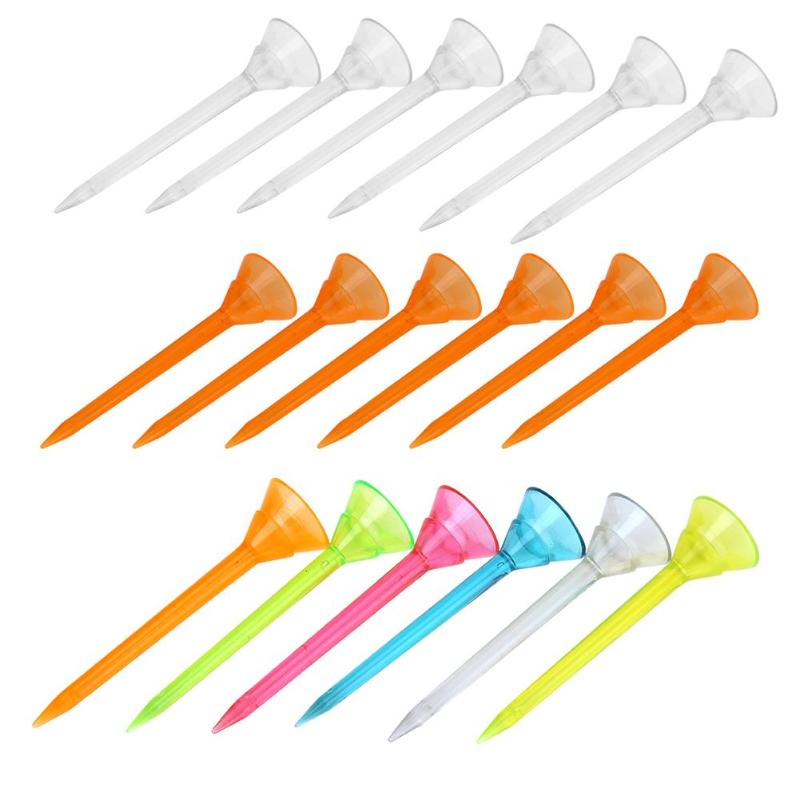 6pcs Outdoor Sports Golf Tees Plastic Nails Holder Support Training Aids For Golfer Accessories