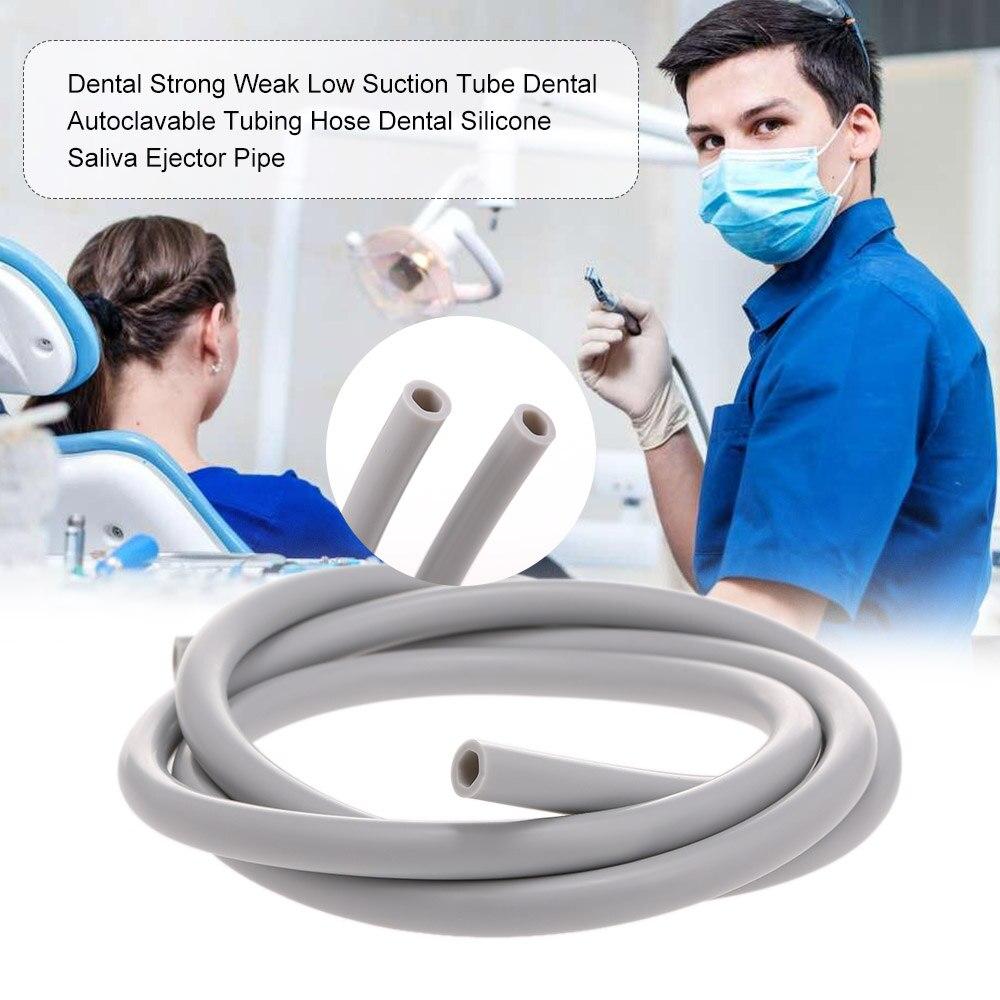 Tuyau dentaire Autoclavable dentaire de Tube d'aspiration faible faible dentaire tuyau d'éjecteur de salive de Silicone dentaire