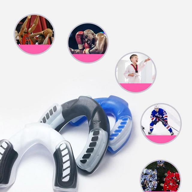 Sports Mouthguard Professional Mouth Guard Teeth Cap Protect for Boxing Basketball