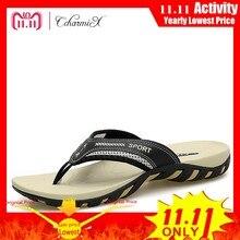 e92448cb2f24 CcharmiX Summer Men Shoes Fashion Mens Flip Flops 2018 Trendy Anti-slip  Leather Men Casual Shoes Classic Massage Beach Slippers