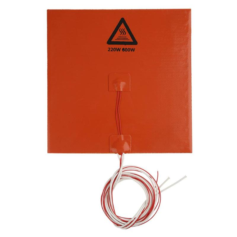ALLOYSEED Silicone Heating Pad Heater 220V 750W 300mmx300mm With 3m adhesive tape /cable for 3D Printer Heat Bed