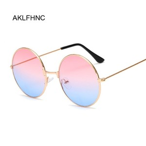New Fashion Candy Vintage Round Mirror Sunglasses Women Luxury Brand Original Design Black Sun Glasses Female Oculos