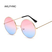 New Fashion Candy Vintage Round Mirror Sunglasses Women Luxury Brand Original De