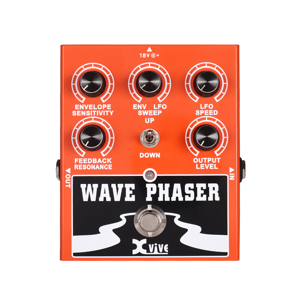 XVIVE W1 Wave Phaser Guitar Effect Pedal Portable True Bypass Full Metal Shell Guitar Effect Guitar Parts Guitarra Effect PedalXVIVE W1 Wave Phaser Guitar Effect Pedal Portable True Bypass Full Metal Shell Guitar Effect Guitar Parts Guitarra Effect Pedal