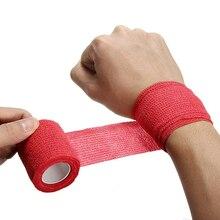 Rorasa 5色使い捨て自己粘着弾性包帯ハンドルチューブの締め付けタトゥーアクセサリー筋肉テープ