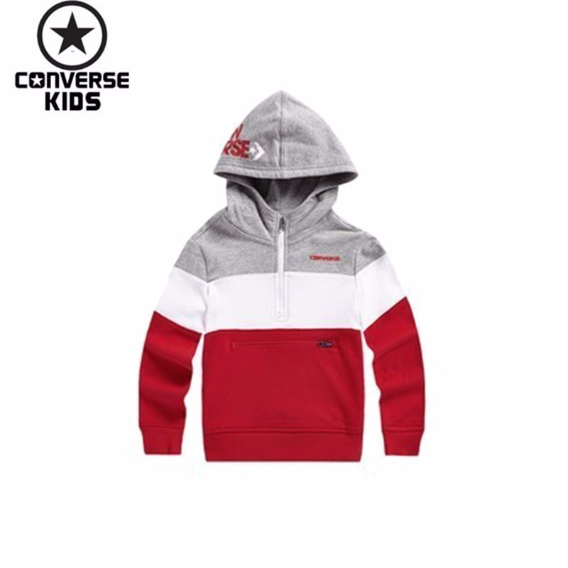 CONVERSE Children's Garment Even Hat Pullover Sweater Catamite Men Children Spring And Autumn Sweater #81121HO048 цена и фото