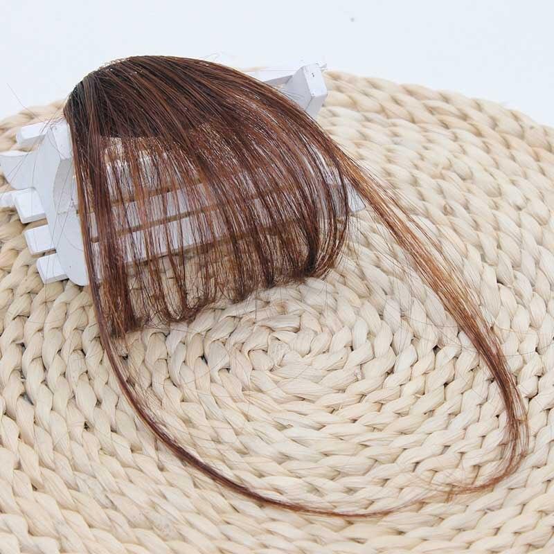 New 1PC Synthetic Fibre Thin Air Fringe Bangs Hair Clip For Women Girl Forehead Hair Headwear Korean Hair Extensions