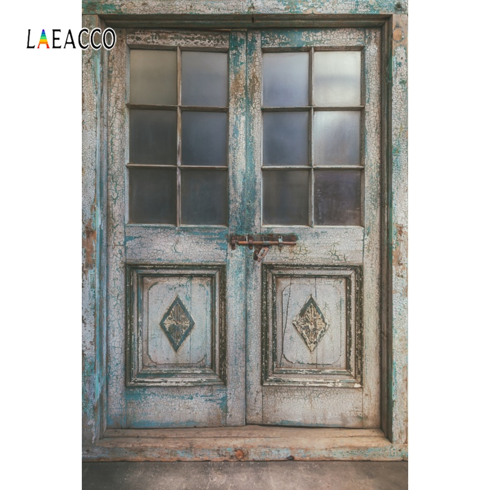 Laeacco Faded Retro Wood Door Screen Photography Backgrounds Photocall  Photographic Backdrops For Photo Studio