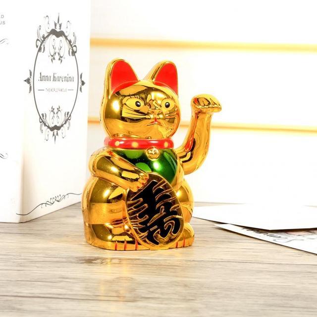 Chiński kot na szczęście duże złote macha kot ręka łapa bogactwo dobrobyt powitanie powodzenia macha kot urodziny prezent