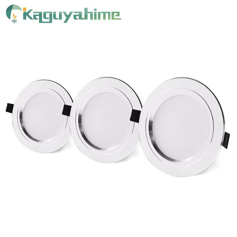 Kaguyahime 220V 110V Aluminum LED Downlights 3W 5W 10W 15W Led Lamp Living Room High Bright LED Spot Down Light Indoor Lighting