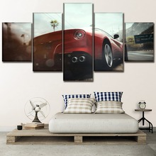 Artwork Poster HD Prints 5 Pieces Home Decoration Car Wall Art Traffic Modular Pictures For Living Room Bedroom Canvas Painting hansa fcgx62020 плита газовая