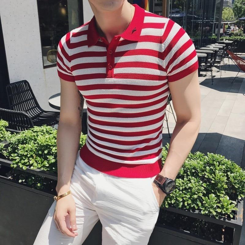 2019 Summer New Fashion Stripe   Polo   Shirt Men High Quality Slim Fit   Polo   Shirt Men Short Sleeve Casual   Polo   Homme Streetwear