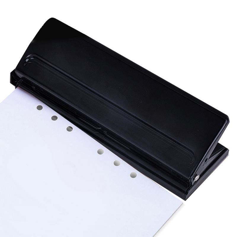 6 Hole Punch Loose-Leaf Standard Puncher Paper Adjustable Stapler Home Office Binding Supplies Student Stationery Equipment