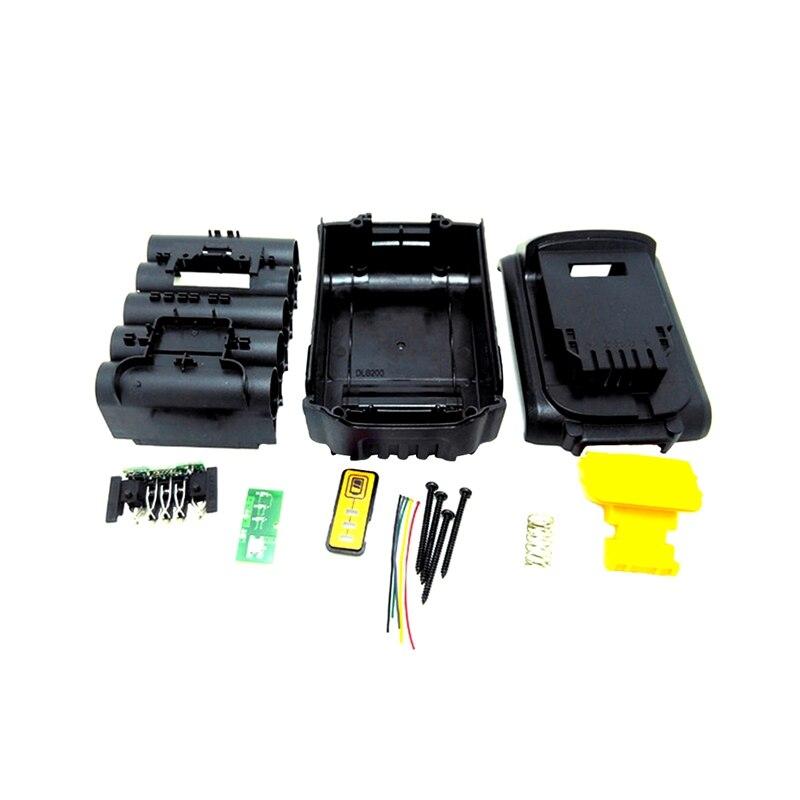 For Dewalt 18V 20V Battery Replacement Plastic Case 3.0Ah 4.0Ah DCB201,DCB203,DCB204,DCB200 Li-Ion Battery Cover Parts