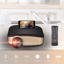 Wifi LCD Projector LED Portable Video Projector Can Synchronize Smart Phone Screen Support 1080P with USB HD VGA AV Input(China)