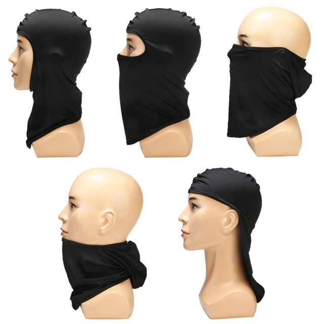 Ultra-thin Motorcycle Lycra Balaclava Ski Full Face Mask Cycling Neck Protect Wear Accessories