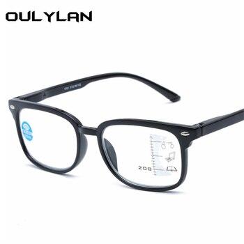 0e961e4fd6 Oulylan Anti-Luz Azul gafas de lectura de los hombres y las mujeres  Multifocal progresiva la hipermetropía gafas de presbicia gafas dioptrías +  2,5