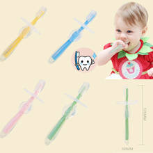 Baby Teether Training Silicone Bendable Newborn Infant Toothbrush Soft New Hot Baby Kids Children Food Grade Silicone Toothbrush(China)