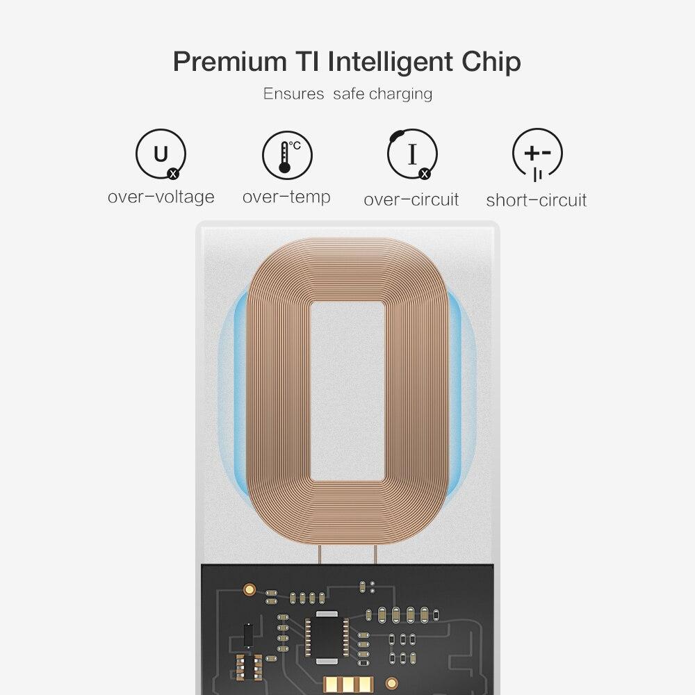 Caseier беспроводной зарядное устройство приемник безпроводная зарядка телефон QI адаптер для беспроводной зарядки прием