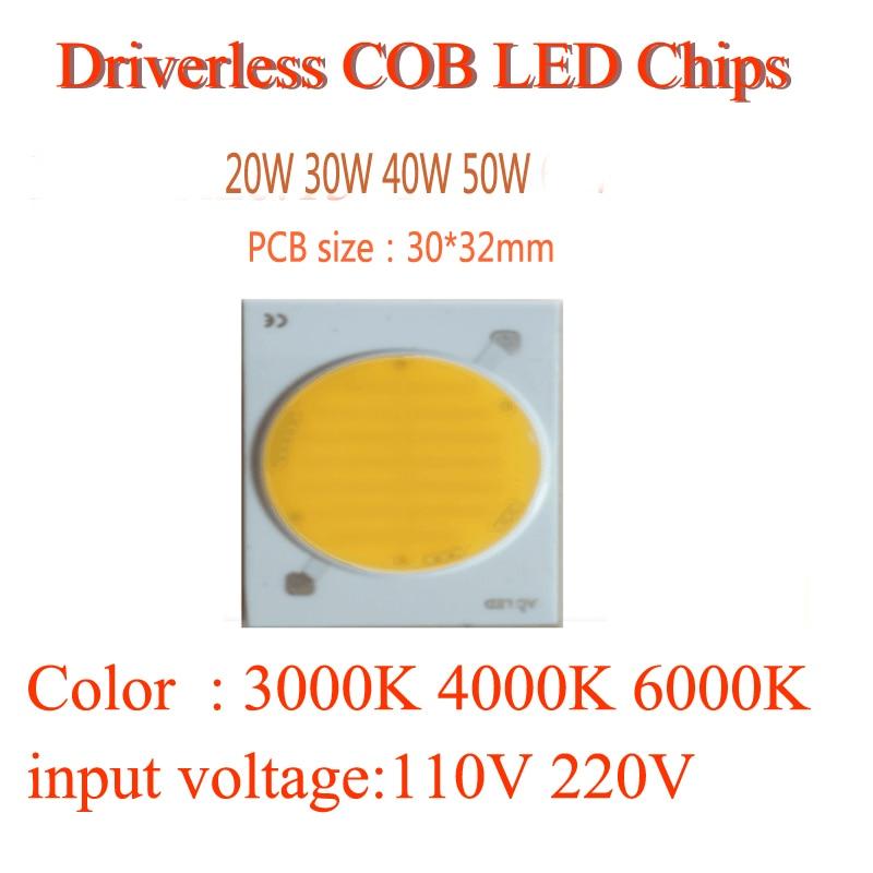 220V sürücüsüz cob modul çipləri 20W 30W 40w 50W 80W 100W 120W - İşıqlandırma aksesuarları - Fotoqrafiya 4