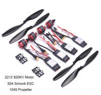 30A Simonk ESC with 3.5mm Connector 2212 920KV CW CCW Brushless Motor 1045 Propeller for F450 F550 S550 F550 Multicopter