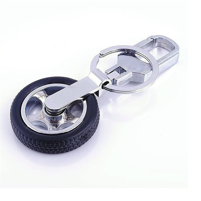 Us 2 63 6 Off 360 Degree Turn Rotation Tyre Keychain Car Tire Logo Key Ring Car Covers Carabiner For Car Key In Key Rings From Automobiles