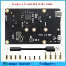 Raspberry Pi 3 Model B + Plus NVMe M.2 2280/2260/2242/2230 SATA SSD NAS لوح تمديد X870 for Raspberry Pi 3 b +/3B/ROCK64