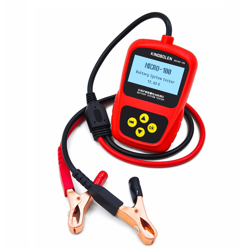MICRO-100 Multi-language Car Battery System Tester  for 12V Auto battery tester tool Repair Shop/Battery Load
