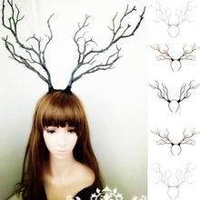 Длинные рога, ветви деревьев, рога, шляпа, повязка на голову, маскарадный костюм, нарядное платье, новинка