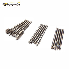 STLRENDA 5pcs/set Woodworking Engraving Milling Cutter Root Carving Grinding Head Big set 3*8mm,Middle 3*6mm,Small 3*4mm