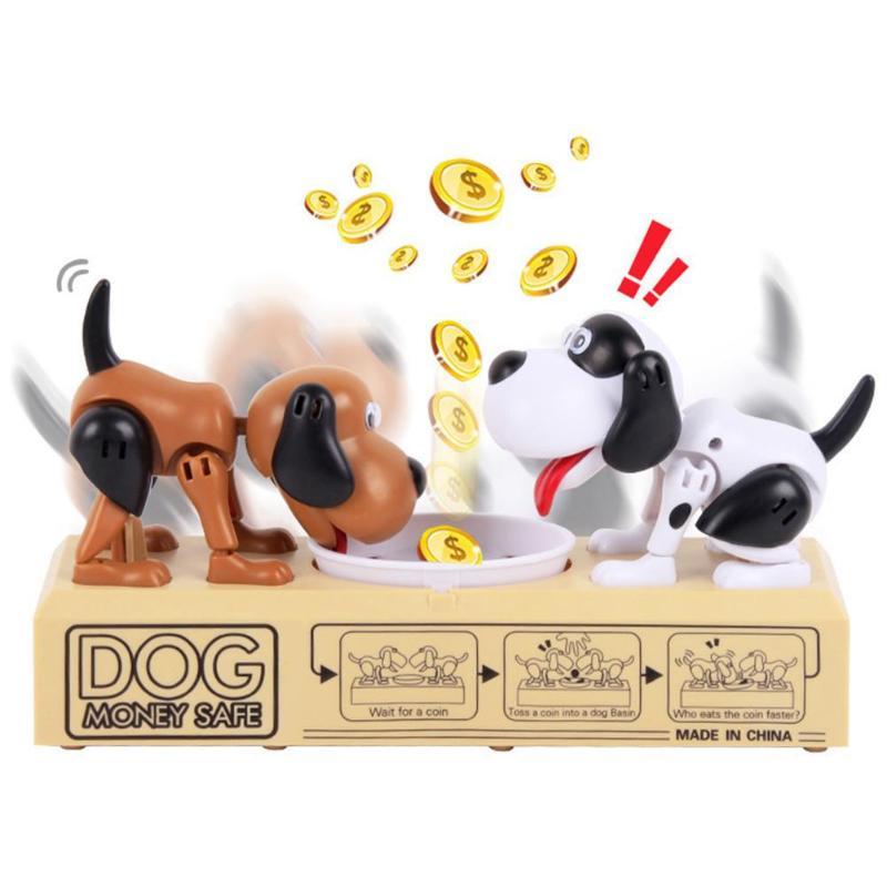 1 Stücke Robotic 2 Hund Geld Sparen Box Geld Bank Automatische Stola Münze Sparschwein Geld Box Spielzeug Geschenke Für Kinder Kinder Der Tag
