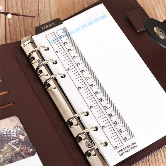 A5 A6 DIY Coil Notebook Ruler Frosted 6 Holes Sketchbook Bullet Journal Cute Paper Weekly