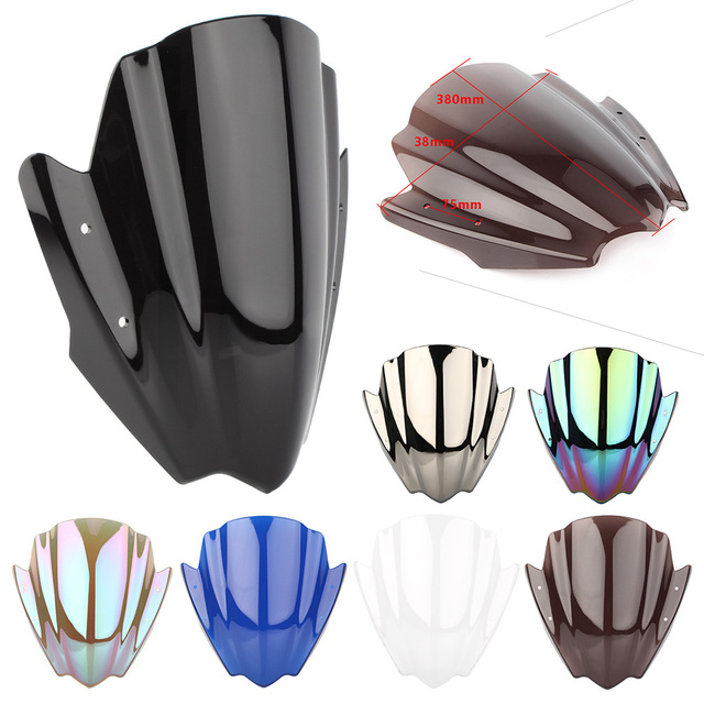 "Universal fit for 7/8""& 1"" Handel bar Mount Windshield Windscreen Motorcycle Accessories"