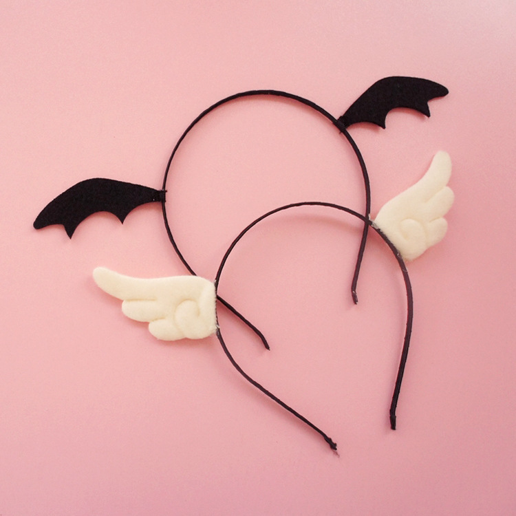 Japanese cute Black Evil &White Angel hairpin Headband Sexy Cosplay Accessories Hair Hoops Lady Lovely Kitten Headdress