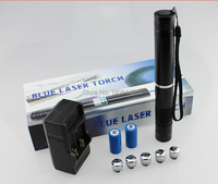 Super Powerful Military blue laser pointer 450nm 100W 100000m Flashlight Burning Match cigar cutting paper plastic+gift box