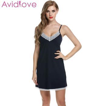 f36ef030010f154 Avidlove женское сексуальное женское белье Ночная рубашка с v-образным  вырезом кружевное нижнее белье ночные халаты Спагетти ремень плюс разме.