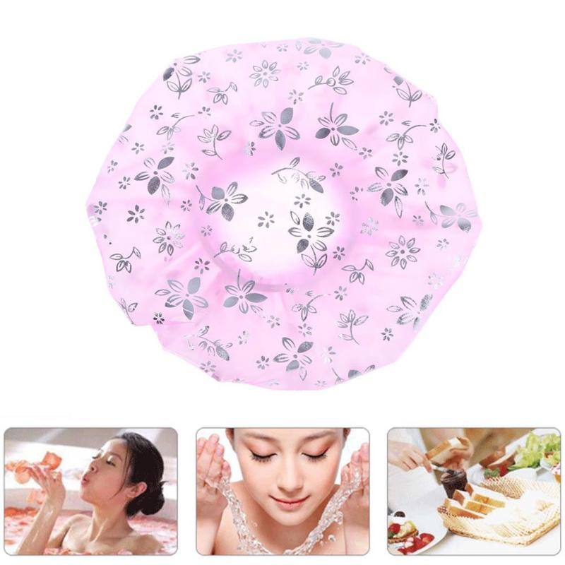 Women Waterproof Shower Bath Cap Hat With Bear Bowknot Balloon Cherry Design For Adult D5 Beauty & Health