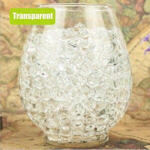 Około 100 sztuk/partia kryształ wody BabyBeads kryształowe gleby wody koraliki błoto rosnące piłka wody magiczne kulki Home Decor ślub hydrożel