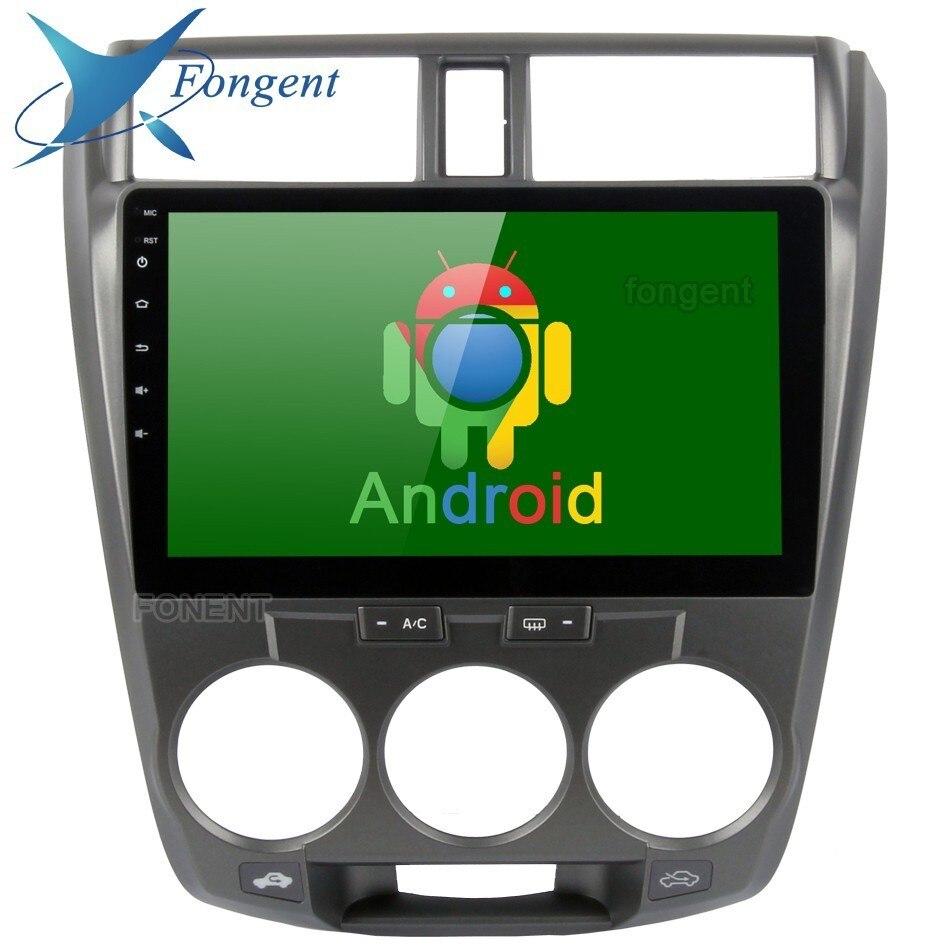 10,2 Авто радио мультимедиа для Honda City 2008 2009 2010 2011 2012 Android 8,0 устройство автомобиля ГЛОНАСС gps навигатор стерео аудио