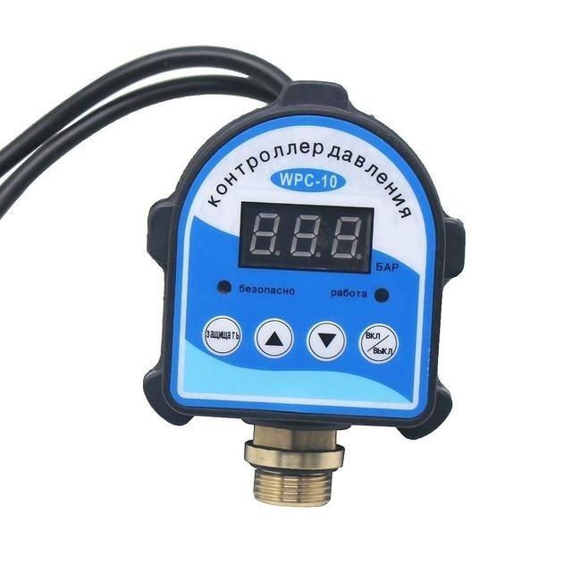 """רוסית דיגיטלי LED תצוגת מים משאבת לחץ בקרת מתג G1/4 """"G3/8"""" G1/2 """"WPC 10, eletronic בקר חיישן עם מתאם"""