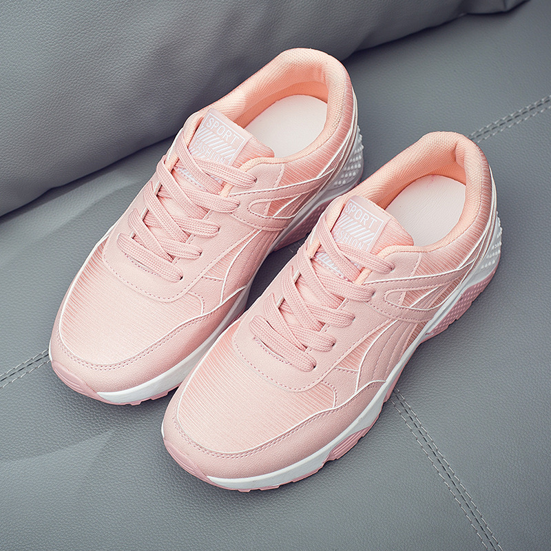 2018 spring new korean designer wedges pink white platform
