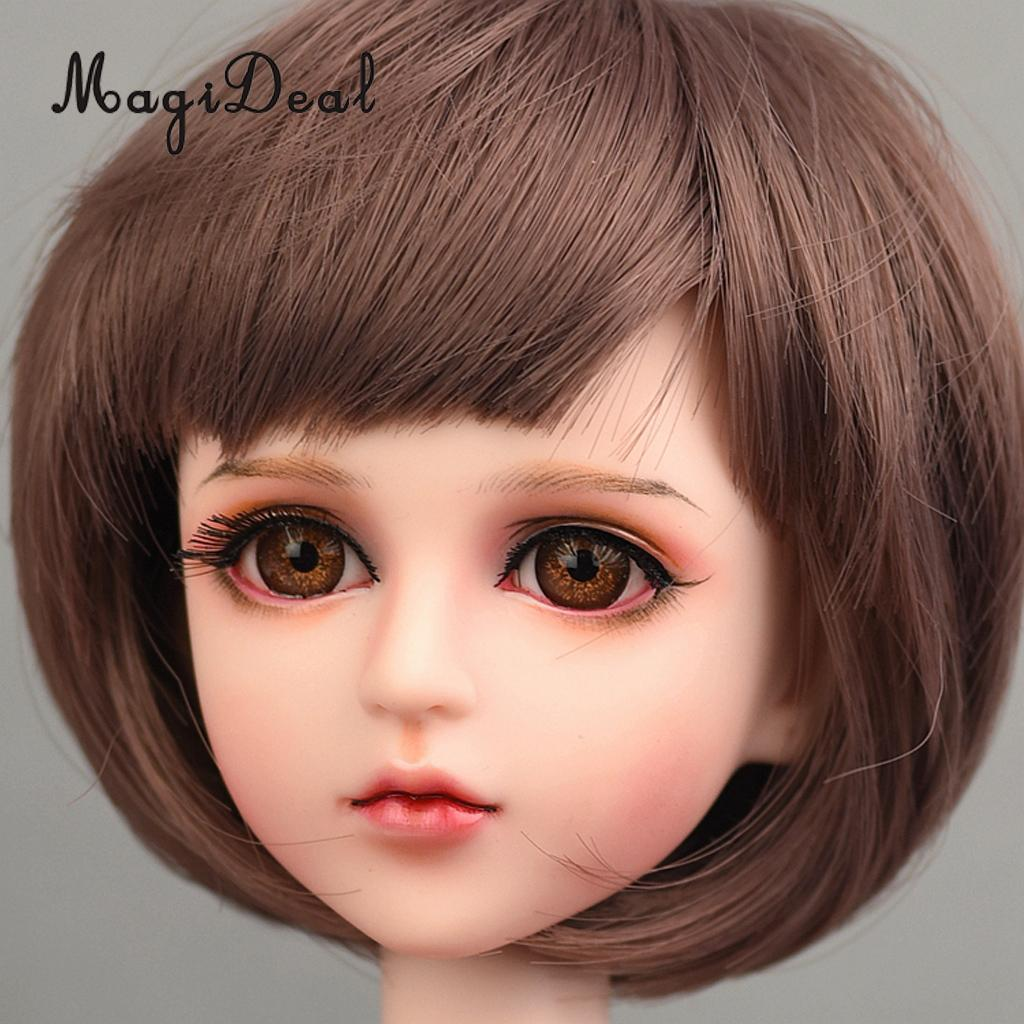 Round Green Iris/&Black Pupil 14mm Glass BJD Eyes for Joint 1//4 BJD Dollfie