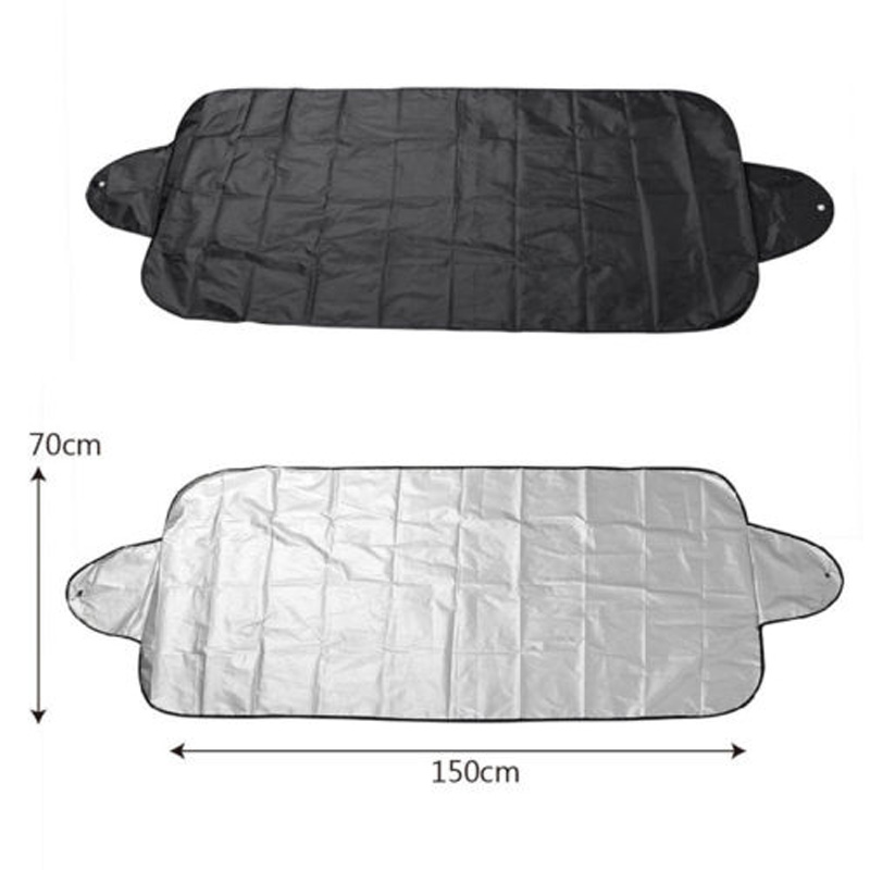 200x70cm Car SUV Snow Ice Sun Dust Magnetic Windshield Cover Protector Shield Snow Covered