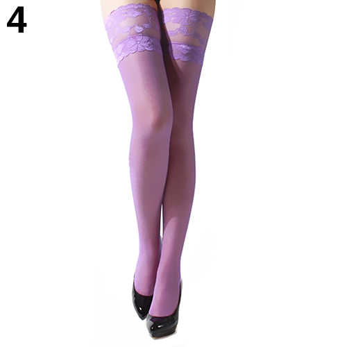 1 par feminino sexy meia floral renda superior sheer nightclub coxa alta sobre o joelho meias femininas dropship