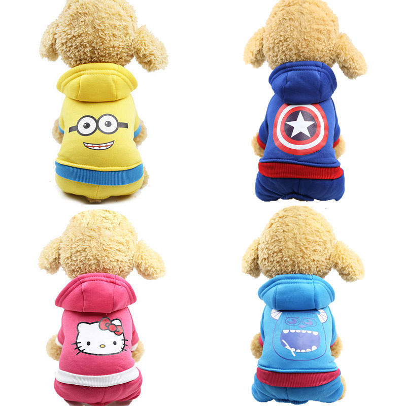 Cotton Dog Clothes Pet Hoodies For Dogs Jumpsuits Cotton Dog Hoody Puppy Costume Pet Clothes For Dogs Coat Jackets Pets Outfits