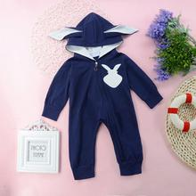 baby boy clothes 2019 newborn suit children clothing long-sleeved printed toddler rabbit ears cotton