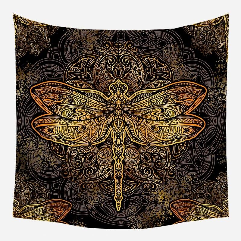 Golden Dragonfly Mandala